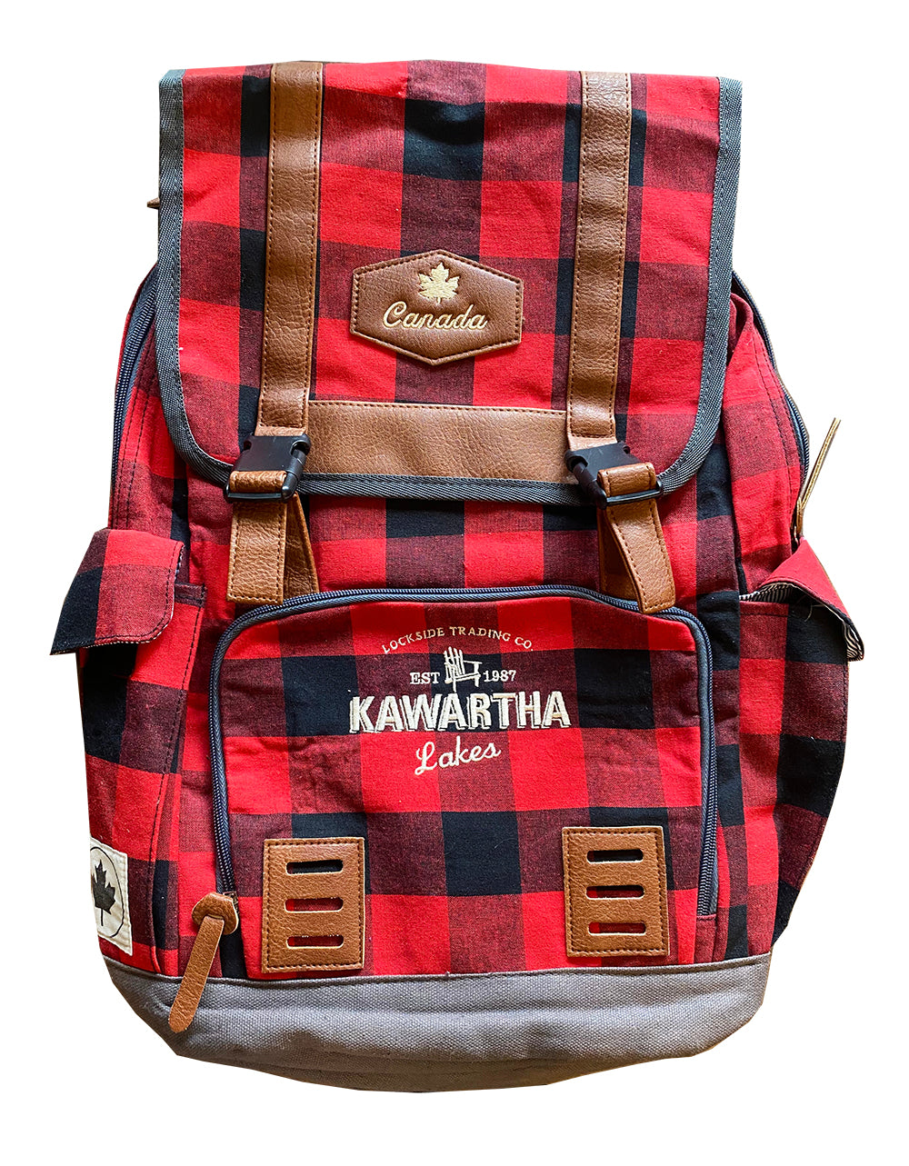 GARY GURMU BACKPACK PLAID KAWARTHA LAKES