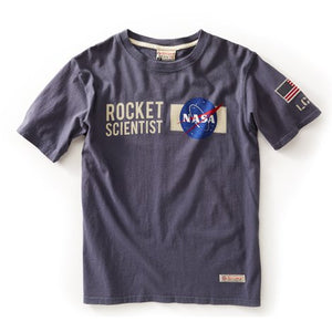 RED CANOE - NASA ROCKET SCIENTIST T-SHIRT BLUEI