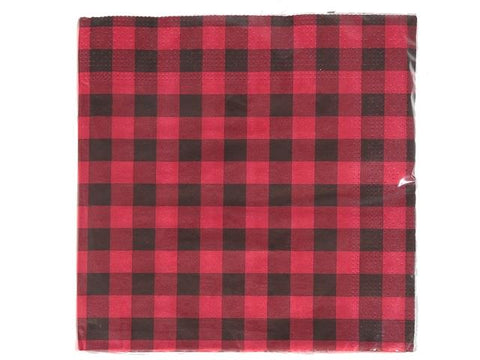 Red Buffalo Plaid Napkins