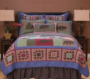 Bear Patchwork 4 Piece Quilt Set