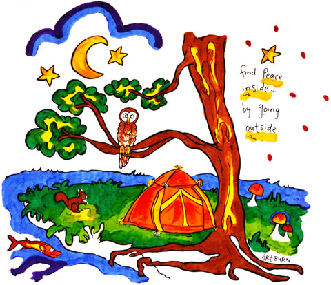 Kids Peaceful Camping Pillowcase Painting Kit