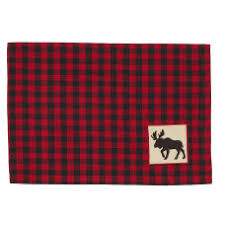APEX - RED & BLACK PLACEMAT WITH MOOSE