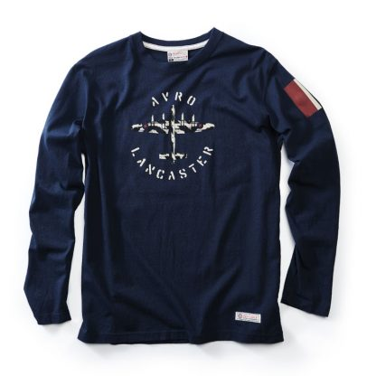 RED CANOE - AVRO LANCASTER LONG SLEEVE T-SHIRT NAVY