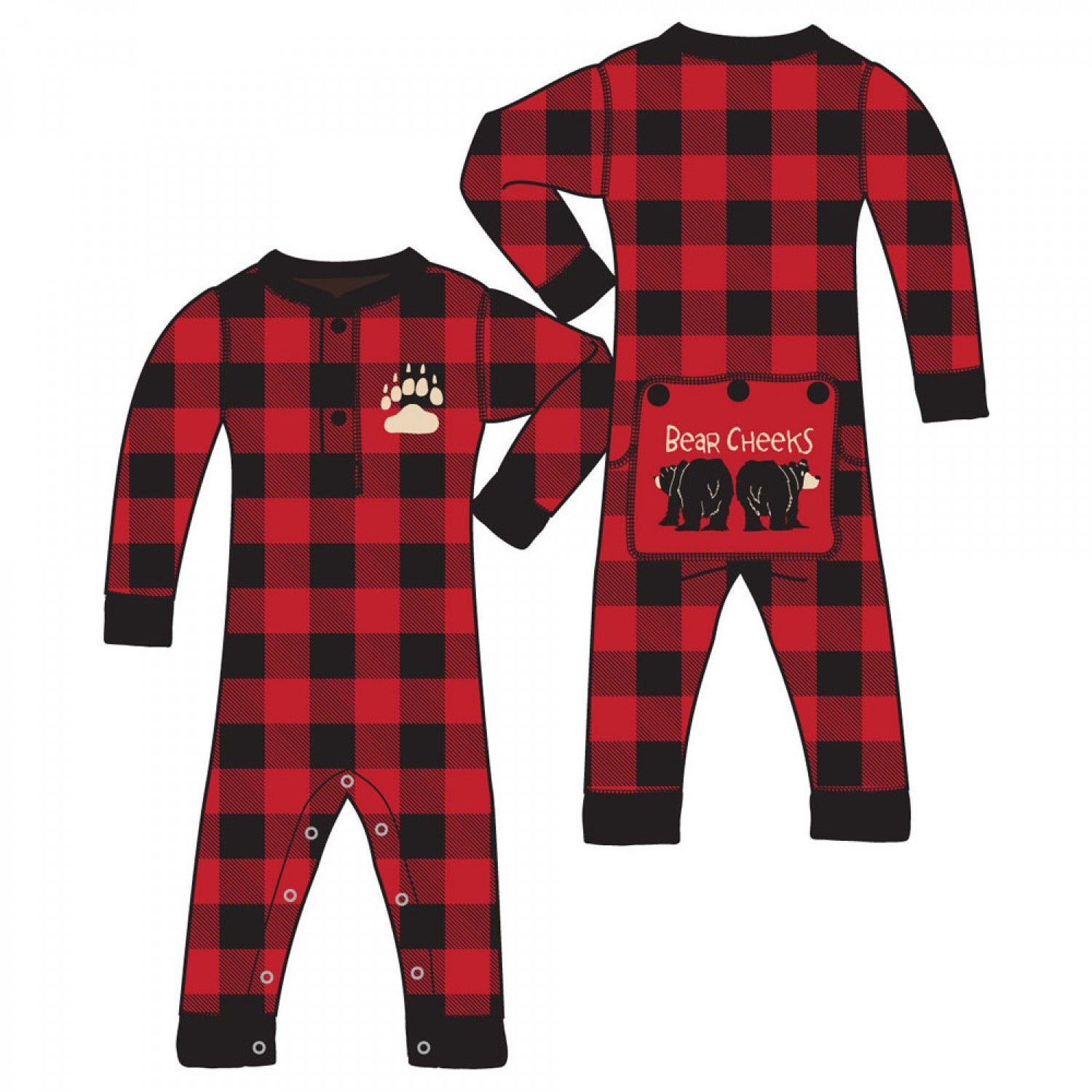 LAZY ONE -  BEAR CHEEKS ONSIE INFANT