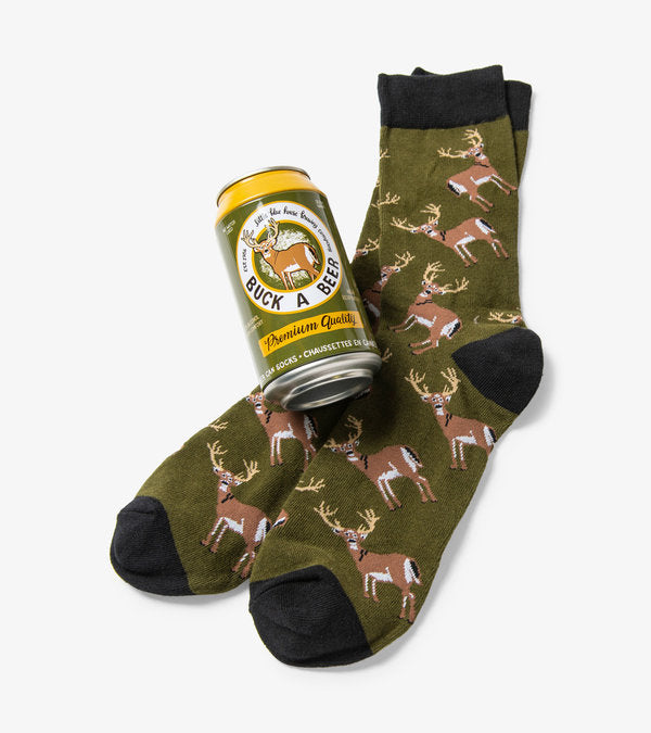 HATLEY - BUCK A BEER MEN'S SOCKS IN A CAN