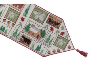 IHCASA - CABIN TAPESTRY TABLE RUNNER 12X36