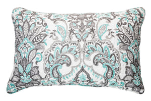 BRUNELLI - DIANE QUEEN AQUA  AND GREY QUILT SET