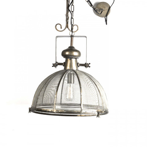 Mesh & Metal Ceiling Light