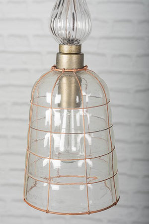 Wire & Glass Ceiling Light