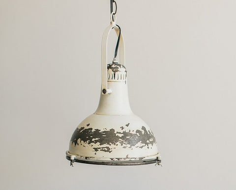 Small White Metal Ceiling Light