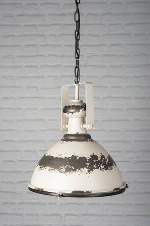 Large White Metal Ceiling Light