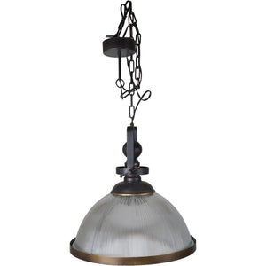 Bronze Metal & Glass Ceiling Light