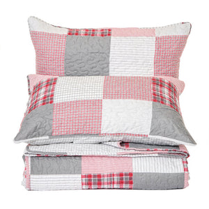 BRUNELLI - LODGE PLAID QUILT SET
