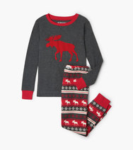 HATLEY - MOOSE FAIR ISLE KIDS PJ SET