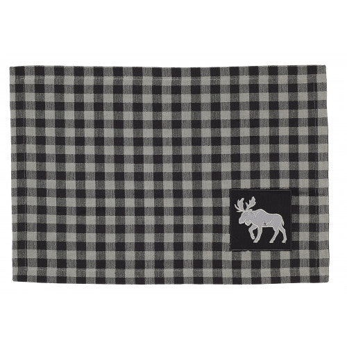 APEX - GREY BUFFALO CHECK W/ MOOSE PLACEMAT