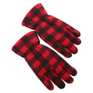 SIMI - RED CHECK GLOVES