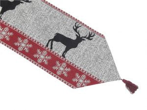 IHCASA - REINDEER TABLE RUNNER 54""