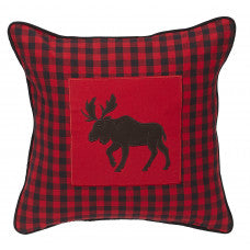 APEX - RED CHECK MOOSE PILLOW