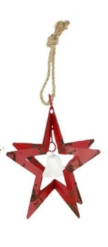 KOPPERS - RED STAR W/ WHITE BELL ORNAMENT