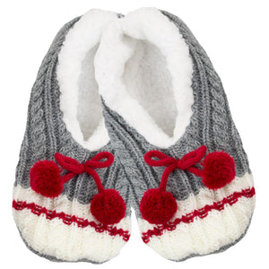 SIMI - LADIES WORK SLIPPERS WITH POMPOMS