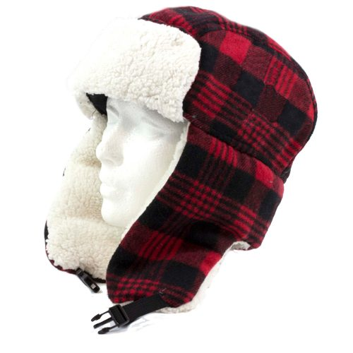 SIMI - RED CHECKED TRAPPER HAT