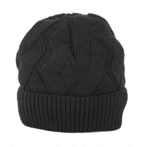 SIMI - BLACK RIBBED WINTER TOQUE