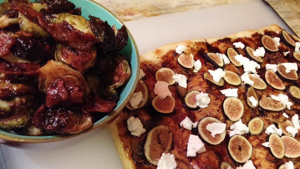 Fig and Goat Cheese (or Blue Cheese) Flatbread