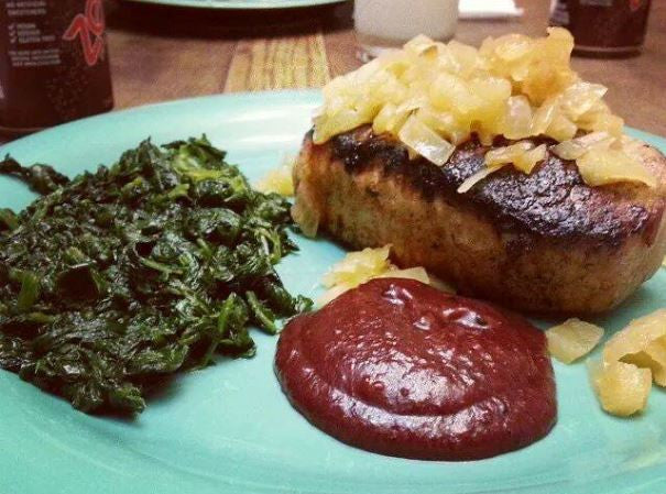 Stuffed Pork Chops with Orange-Cranberry Sauce