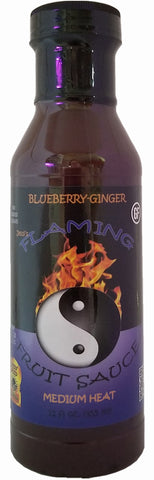 Jessi's Flaming Fruit Sauce Blueberry-Ginger - FULL 12 oz size!