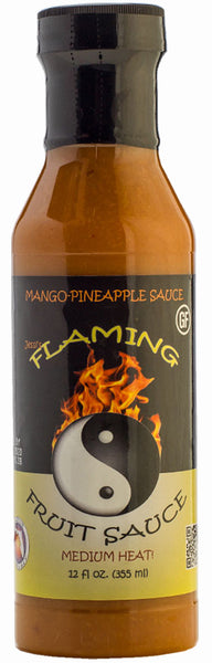 Jessi's Flaming Fruit Sauce Mango-Pineapple - FULL 12 oz size!