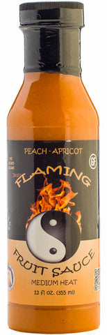 * Jessi's Flaming Fruit Sauce Peach-Apricot - FULL 12 oz size!