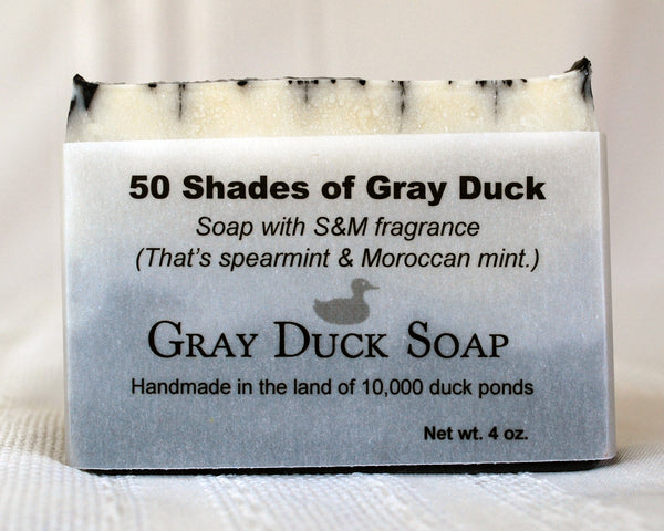 50 Shades of Gray Duck soap