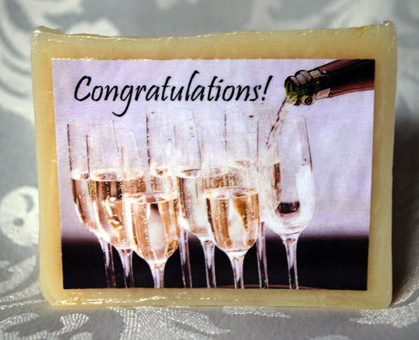 Congratulations! champagne soap