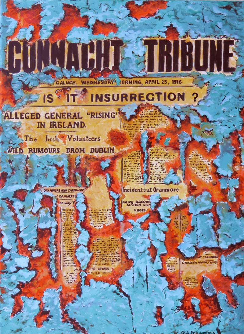 Connacht Tribune oils on canvas 60 x 80cm