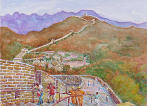 Great wall of China, watercolour, 40 x 30cm