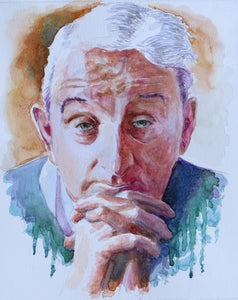 'John B Keane' watercolour 40 x 30cm