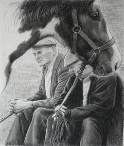 'Old Pals Spancihill' Co Clare Charcoal