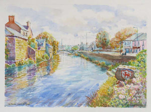 'River Fergus, Ennis Co Clare',  watercolour 40 x  30cm
