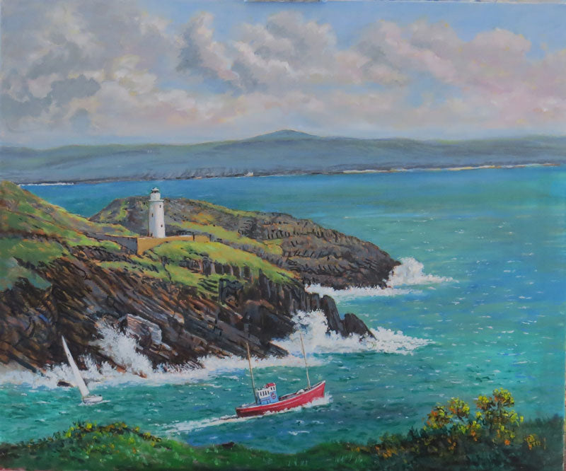 'Setting Sail Bere Island' Cork oils on canvas