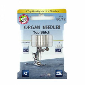 Organ Needles Top Stitch Size 80/12 Eco Pack, Notions, Diamond Needle Corp, [variant_title] - Mad About Patchwork