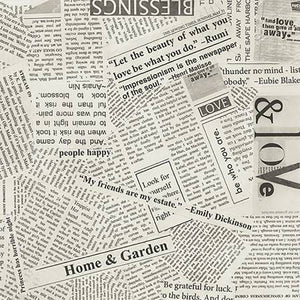 Wideback Spackle Newspaper Clipping, Specialty Fabric, Windham, [variant_title] - Mad About Patchwork