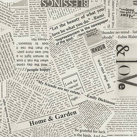 Spackle News Paper Clipping 108in Wide Back, Specialty Fabric, Windam, [variant_title] - Mad About Patchwork