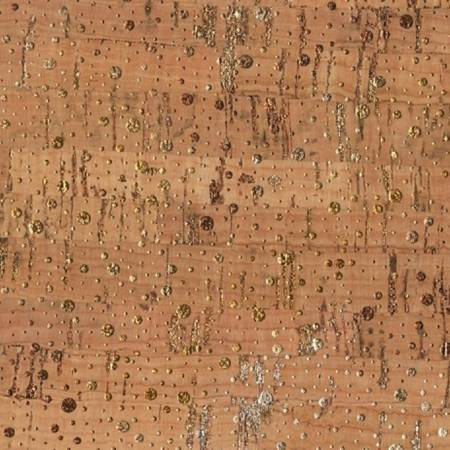 "Shimmer Dot Real Cork Fabric w/Metallic- Cork 18"" x 27"", Cork, Mad About Patchwork, [variant_title] - Mad About Patchwork"