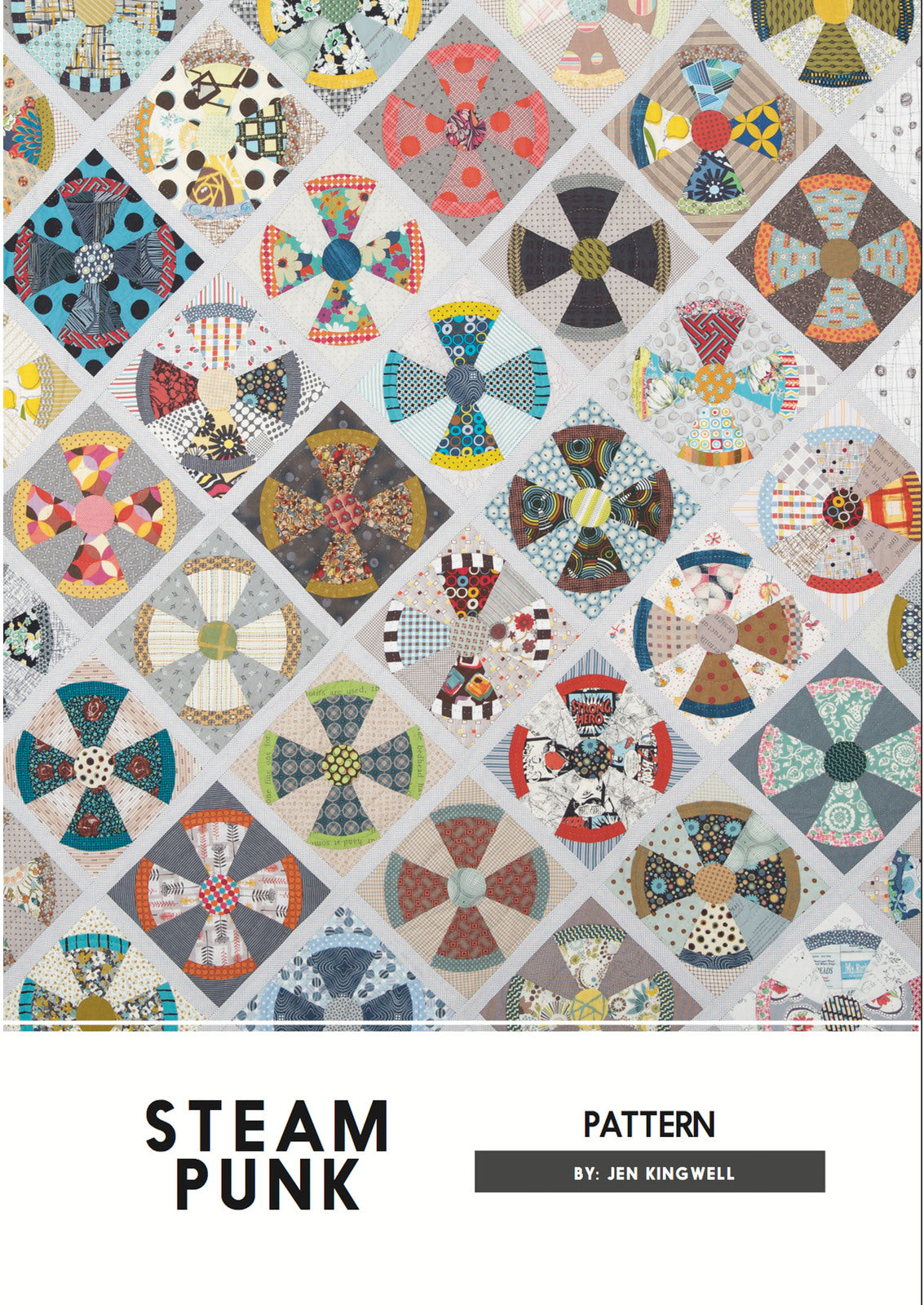 Jen Kingwell — Steam Punk, Pattern, Jen Kingwell Designs, [variant_title] - Mad About Patchwork