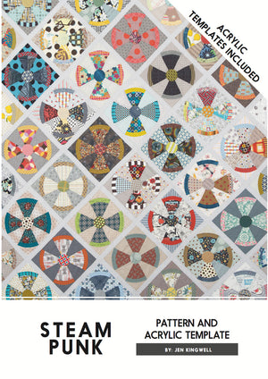 Jen Kingwell — Steam Punk with Acrylic Templates, Pattern, Jen Kingwell Designs, [variant_title] - Mad About Patchwork