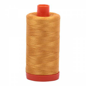 Aurifil Thread Solid 50wt  - Orange Mustard -2140, Thread, Aurifil, [variant_title] - Mad About Patchwork