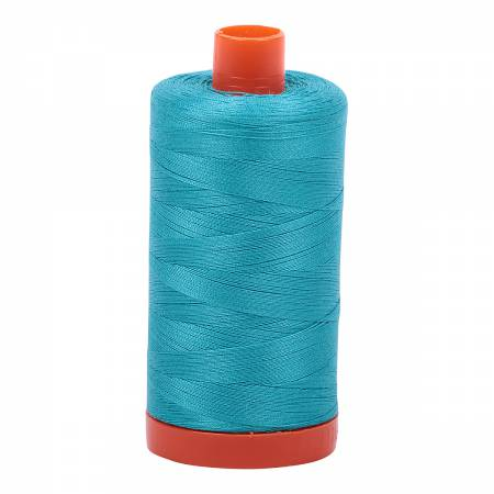 Aurifil Thread - Cotton Thread Solid 50wt -  Turquoise - 2810, Thread, Aurifil, [variant_title] - Mad About Patchwork