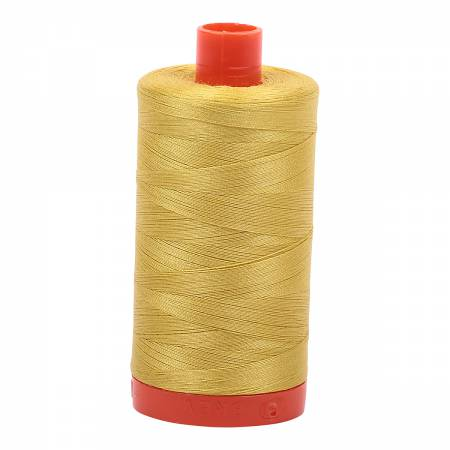 Aurifil Thread - Cotton Thread Solid 50wt -  Gold Yellow - 5015, Thread, Aurifil, [variant_title] - Mad About Patchwork
