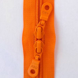 "Bag Zipper in Persimmon, Zipper, Among Brenda's Quilts, 30"" - Mad About Patchwork"