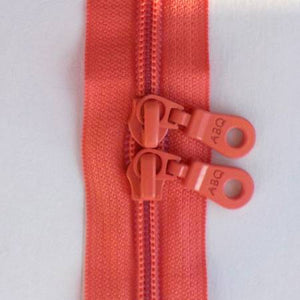 "Bag Zipper in Sugar Coral, Zipper, Among Brenda's Quilts, 30"" - Mad About Patchwork"